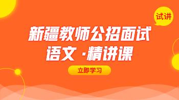 新疆教师公招面试 【试讲】精讲课程(语文)