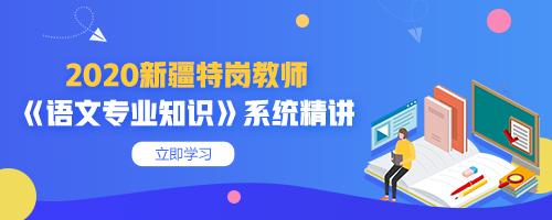 2020新疆特岗教师《语文专业知识》系统精讲