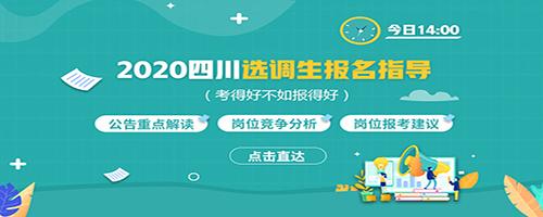 2020四川选调生报名指导