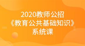 2020教师公招《教育公共基础知识》系统课