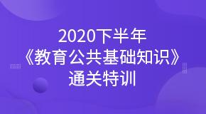 2020下半年《教育公共基础知识》通关特训
