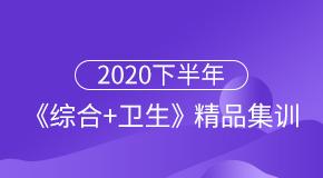 2020下半年《综合+卫生》精品集训