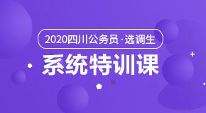 (笔试)2020四川公务员·系统特训课