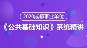 (笔试)2020成都事业单位《公共基础知识》系统精讲
