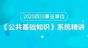 (笔试)2020四川事业单位《公共基础知识》系统精讲