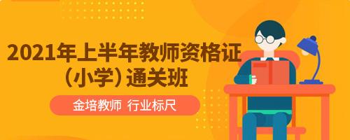 2021年上半年教师资格证(小学)通关班