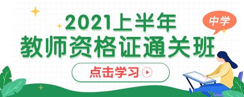 2020中学教资证笔面通关系统课