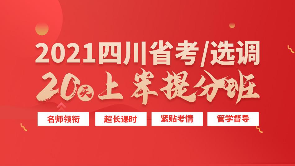 2021四川省考/选调上岸提分班