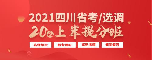 2021四川省考/选调上岸提升班