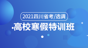 2021四川省考/选调·高校寒假特训班
