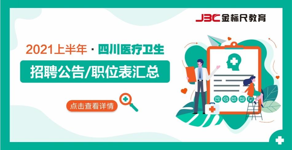 2021上半年四川医疗卫生招聘汇总