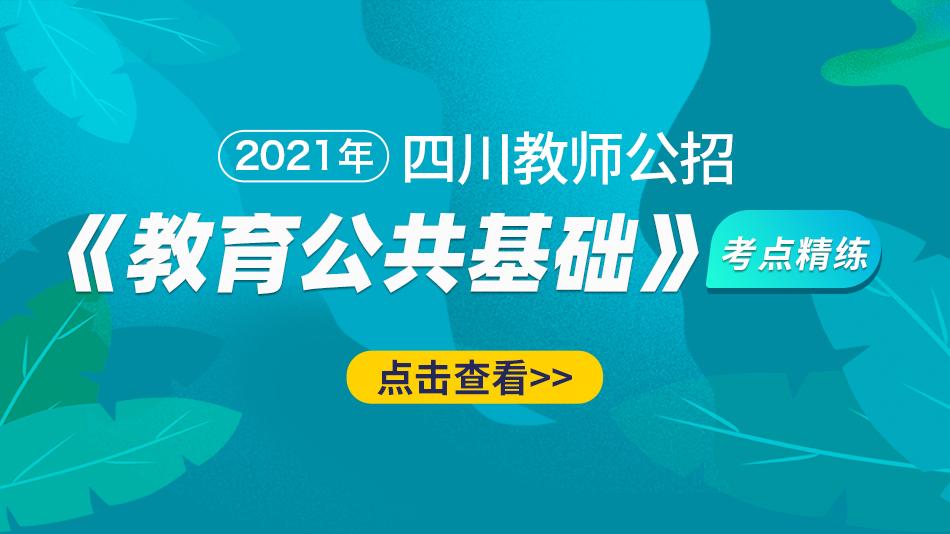 2021四川教师公招《教育公共基础》考点精炼